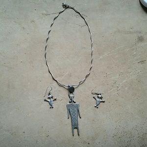 Jewelry - Petroglyph necklace /earring set